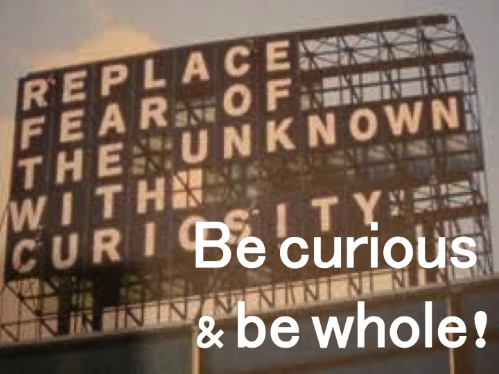 Be curious & be whole